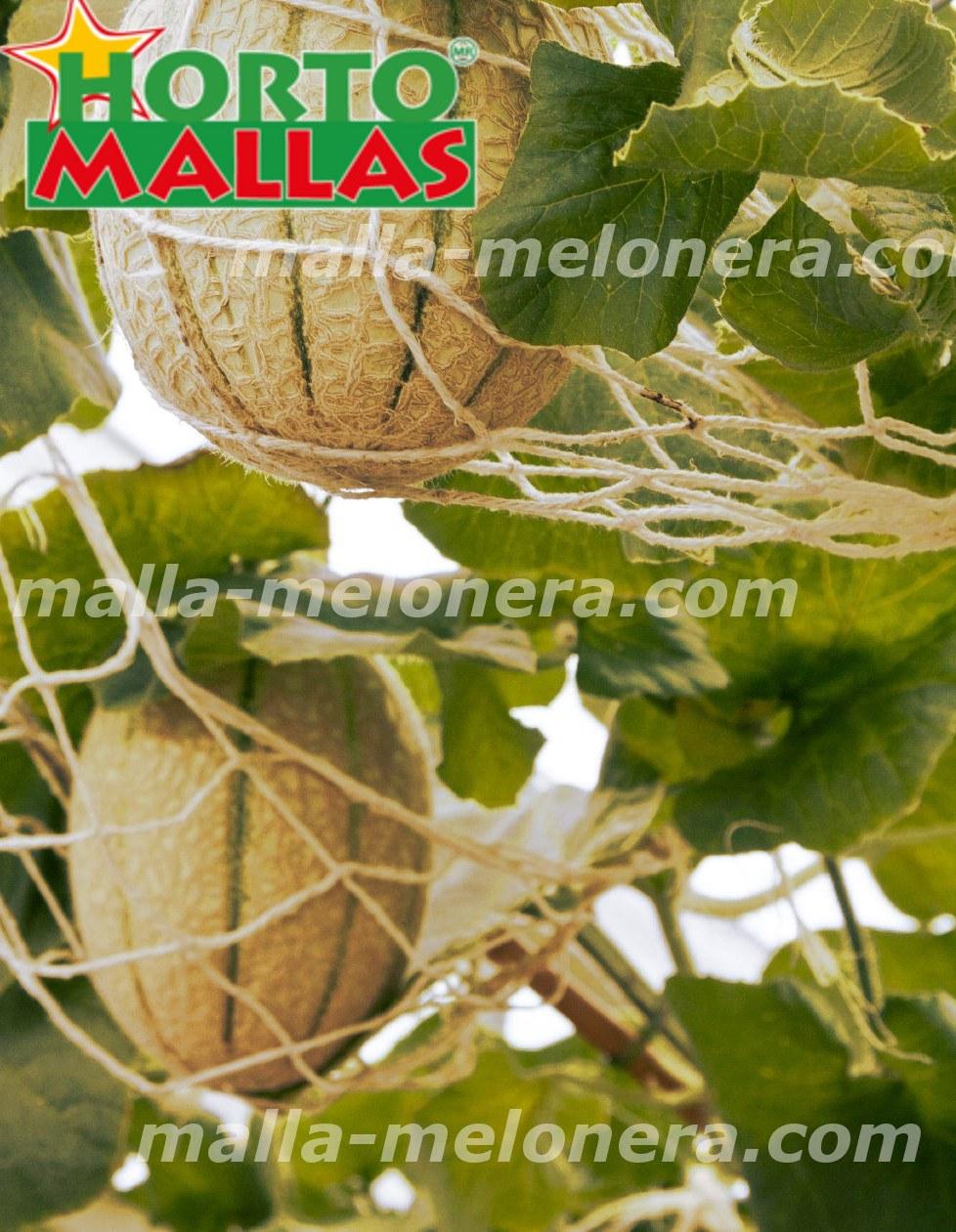 soporte con malla melonera
